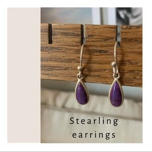 Beautiful tear drop sterling 925 earrings